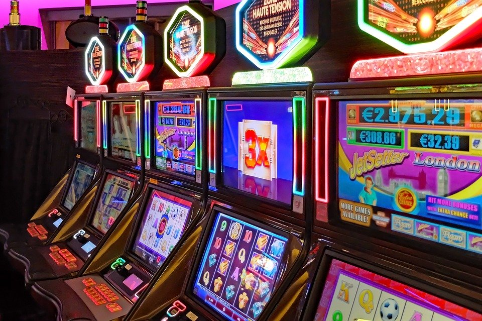 Description: Casino, Game Of Chance, Slot Machines, Gambling, Game